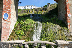 Cascade gardens and waterfall