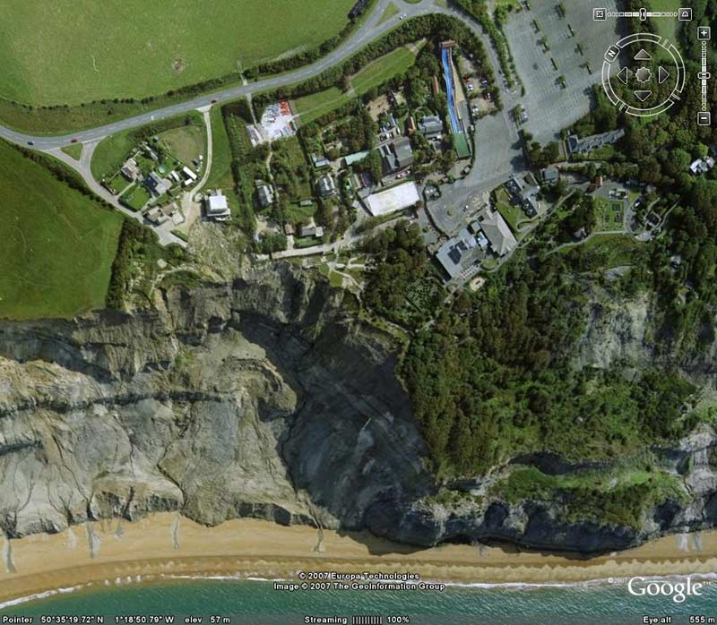 Satellite views of The Isle of Wight courtesy of Google Earth
