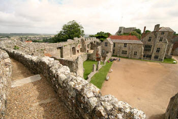 View of the courtyard from the battlements
