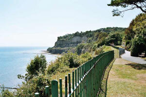 Rylestone cliff top path, Shanklin.