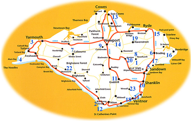 Authors Page Of Wwwisleofwightattractionscouk - Map of iow