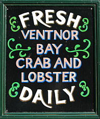 Ventnor Bay crab sign, Isle of Wight