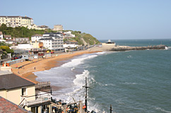 Ventnor beach from above The Spyglass Inn
