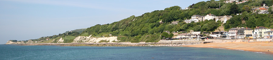 Ventnor headland - looking beyond The Spyglass Inn